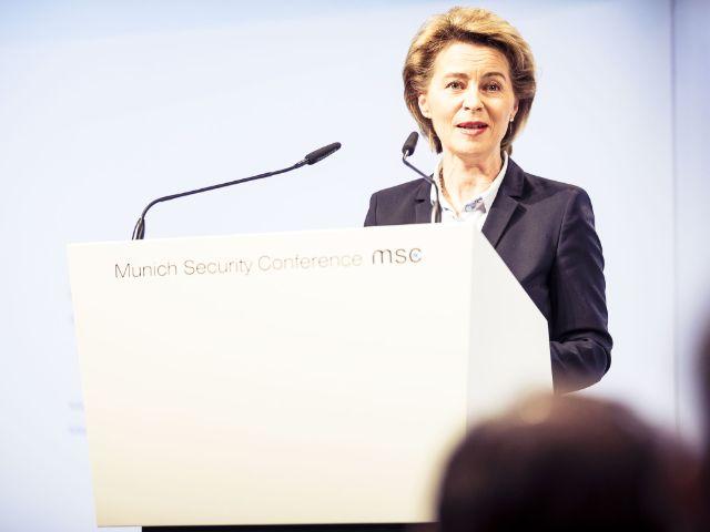 Ursula von der Leyen bei der Sicherheitskonferenz 2018, Foto: MSC / Kuhlmann