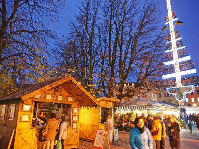 Winterzauber am Viktualienmarkt, Foto: muenchen.de/ Daniel Vauel
