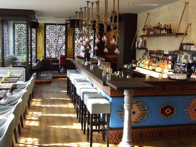 Die Bar im Restaurant Matiz, Foto: Matiz