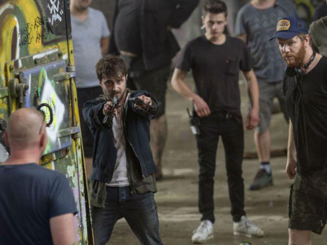 Dreharbeiten der Actionkomödie Guns Akimbo mit Daniel Radcliffe, Foto: Universum Film