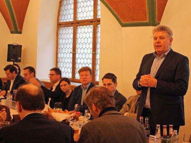 CityPartner-Weißwurstfrühstück mit Oberbürgermeister Dieter Reiter, Foto: muenchen.de/Leonie Liebich