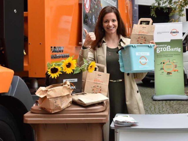 """Vorstellung der Kampagne """"Plastik raus aus der Biotonne!"""", Foto: Abfallwirtschaftsbetrieb München"""
