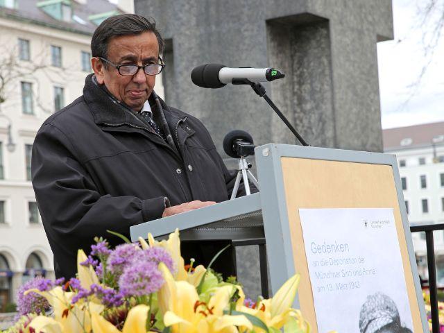 Erich Schneeberger, bayerischer Vorsitzender der deutschen Sinti und Roma, Foto: Michael Nagy/Presseamt München