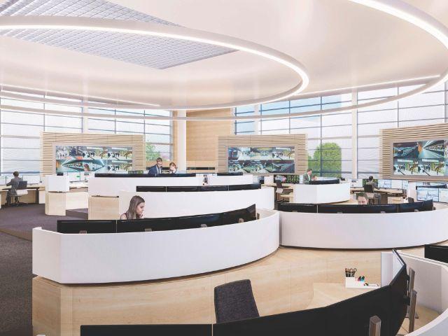 Simulation des neuen MVG Betriebszentrums, Foto: SWM