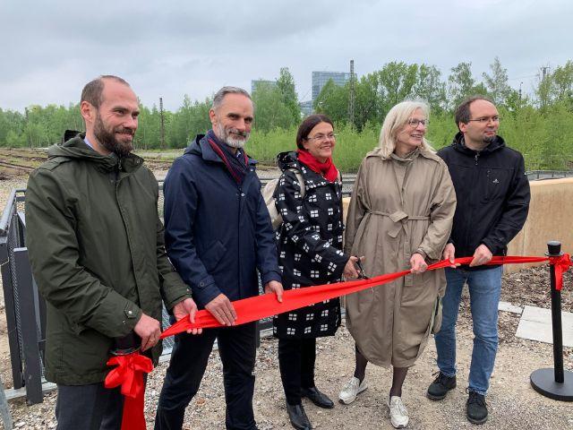 Die feierliche Eröffnung des neuen naturnahen Parks, Foto: muenchen.de / Philipp Hartmann