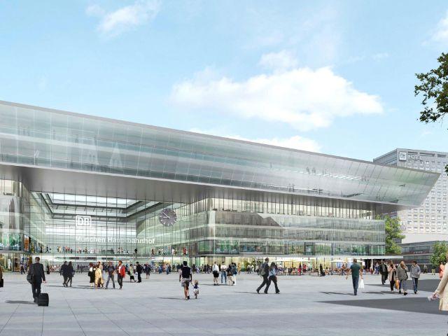 Visualisierung Hauptbahnhof Schützenstraße, Foto: Auer Weber