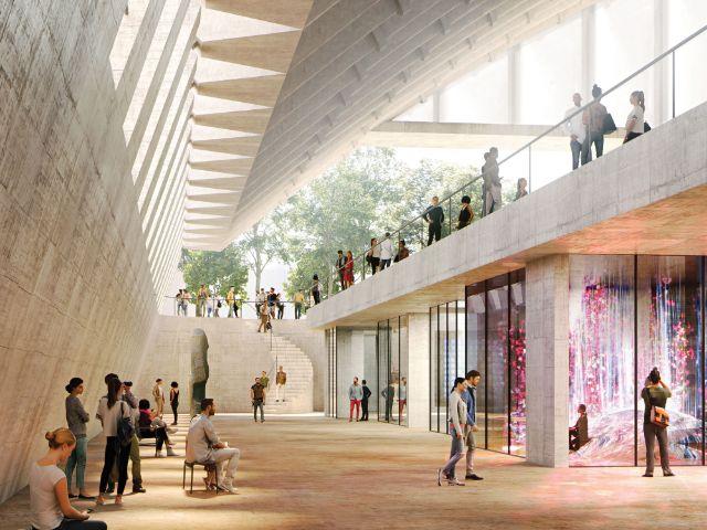 Visualisierung der Paketposthalle, Foto: Herzog & de Meuron