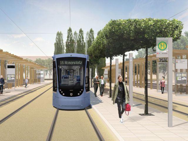 Visualisierung: Der Romanplatz nach dem Umbau, Foto: straub architekten bda