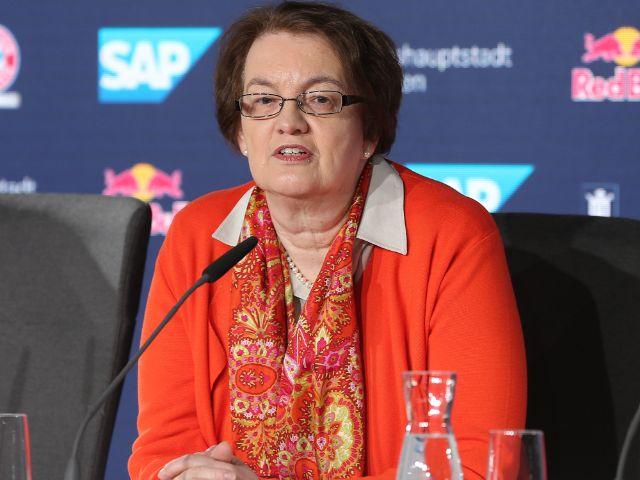 Bürgermeisterin Christine Strobl bei der Präsentation des Siegerentwurfs für die Sportarena im Olympiapark, Foto: GEPA pictures / Marcel Engelbrecht