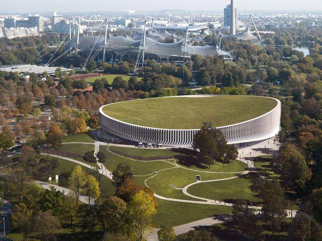 Visualisierung der neuen Sportarena im Olympiapark, Foto: 3XN Architects & MIR