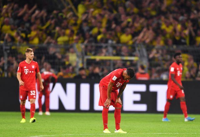 Bayerns Spieler zeigen sich nach dem 0:2 enttäuscht., Foto: Marius Becker/dpa