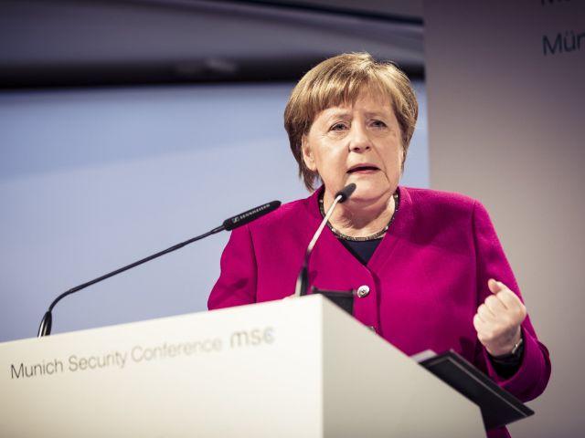 Tag 2 der Sicherheitskonferenz: Bundeskanzlerin Angela Merkel spricht, Foto: MSC / Kuhlmann