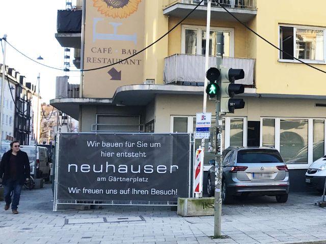 Bauzaun für das Neuhauser am Gärtnerplatz, Foto: muenchen.de