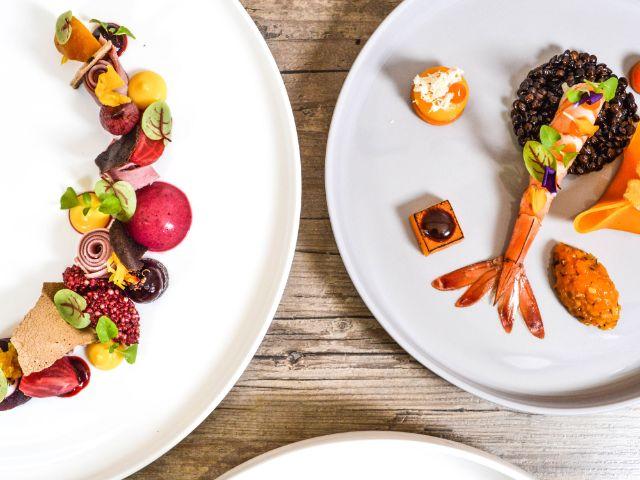 Ansprechend aufbereitetes Gericht im Schwarzreiter Restaurant, Foto: Kempinski Hotels