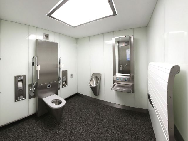 Öffentliche Toilette am Partnachplatz, Foto: Baureferat