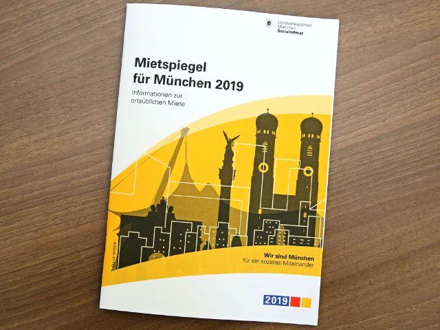 Nahaufnahme des Mietspiegels für München 2019, Foto: Michael Nagy/Presseamt München