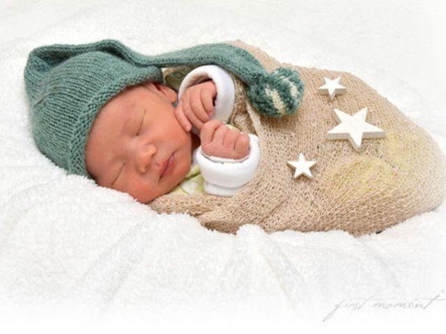 Das Neujahrsbaby Felix im Städtischen Klinikum Harlaching, Foto: First Moments