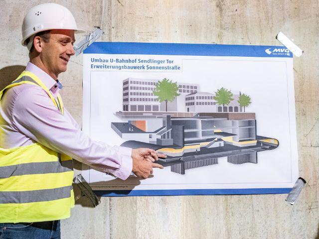 Die U-Bahn-Baustelle am Sendlinger Tor., Foto: Anette Göttlicher