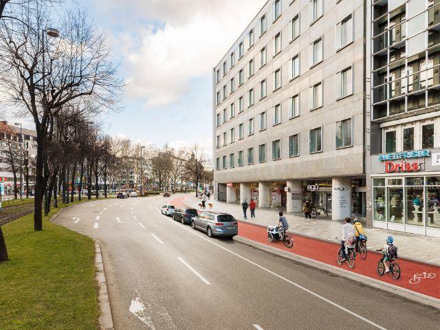 So soll die Sonnenstraße laut ADFC-Studie nach dem Umbau aussehen, Foto: Illustration: Andreas Gregor