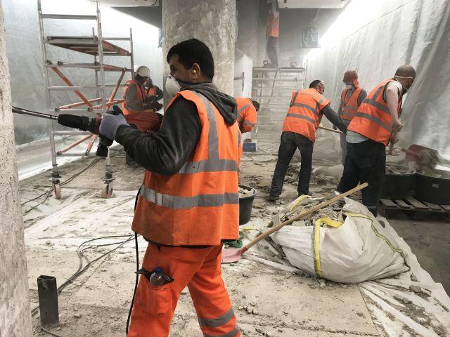 Bauarbeiten am S-Bahnhof Rosenheimer Platz, Foto: Deutsche Bahn