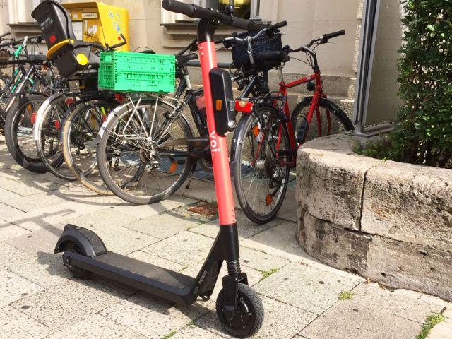 E-Scooter von voi in München, Foto: muenchen.de/Mark Read