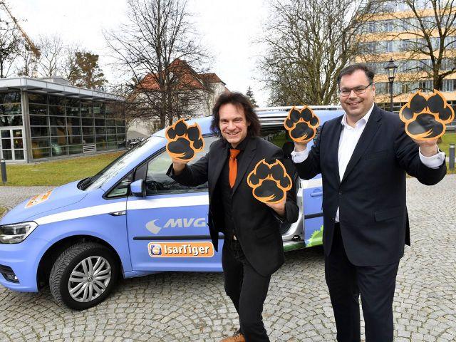 IsarTiger-Projektleiter Andreas Steinbeißer und MVG-Chef Ingo Wortmann, Foto: SWM/MVG