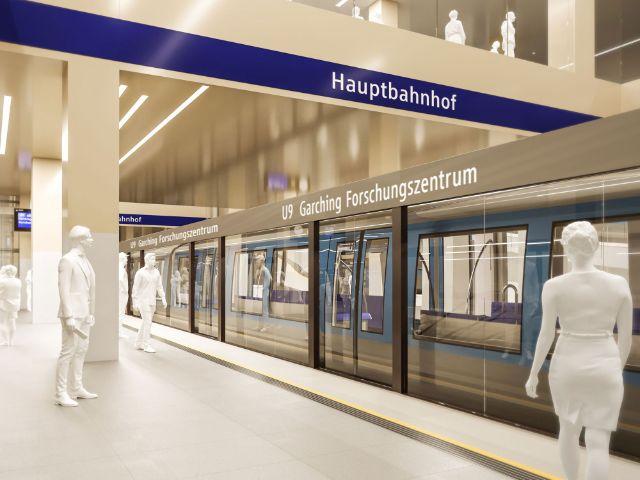 Visualisierung der künftigen Linie U9, Foto: SWM / MVG