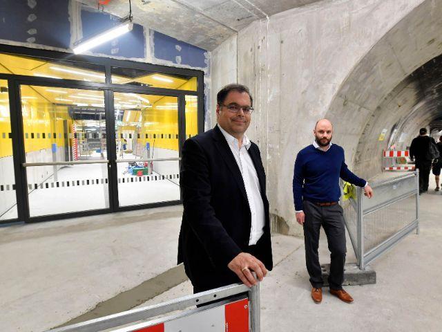 MVG Chef Ingo Wortmann (li) und Projektleiter Andreas Schmid vor Ort., Foto: MVG/SWM