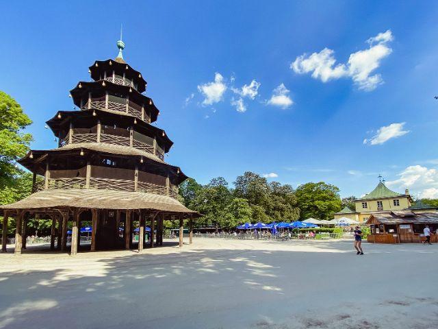 Chinesischer Turm im Englischen Garten, Foto: Anette Göttlicher