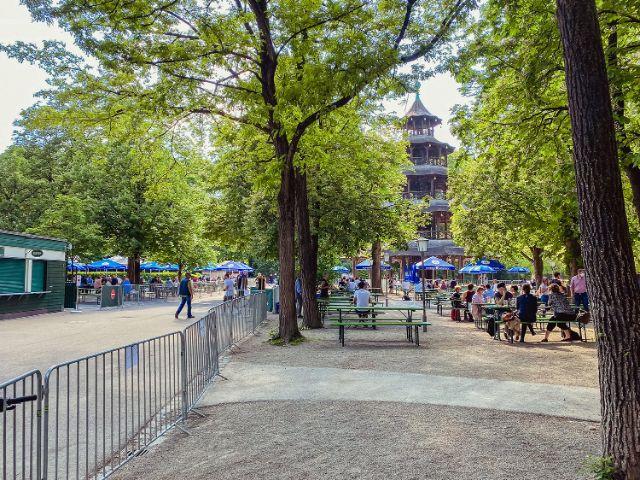 Biergarten am Chinesischen Turm 2020, Foto: Anette Göttlicher