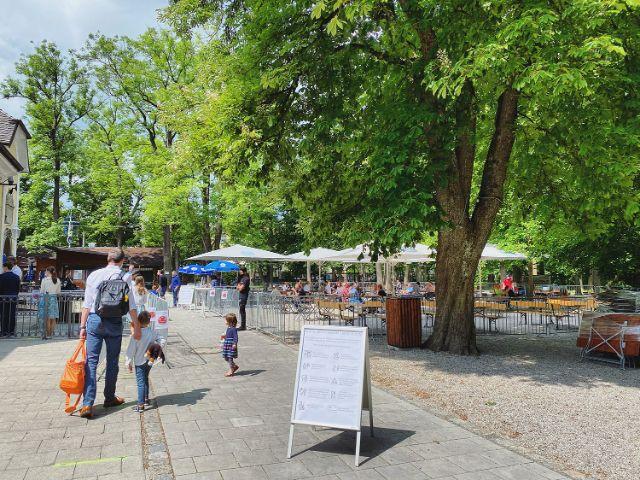 Der Taxisgarten in Gern nach der Wiedereröffnung am 21. Mai 2020, Foto: Anette Göttlicher