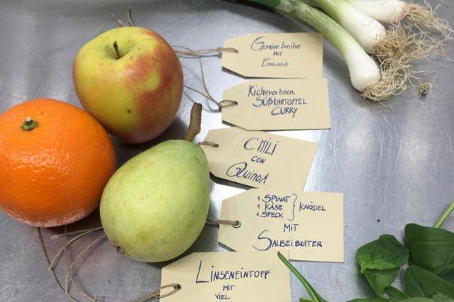 Wochenplan für den Heimservice der kunst-Werk-küche, Foto: kunst-Werk-küche