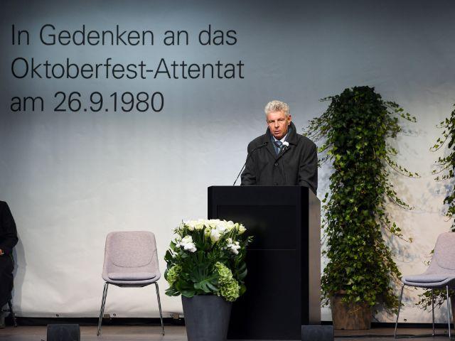 Oberbürgermeister Dieter Reiter bei der Gedenkveranstaltung zum Oktoberfest-Attentat, Foto: Landeshauptstadt München / Kulturreferat