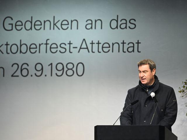 Ministerpräsident Dr. Markus Söder bei der Gedenkveranstaltung zum Oktoberfest-Attentat, Foto: Landeshauptstadt München / Kulturreferat