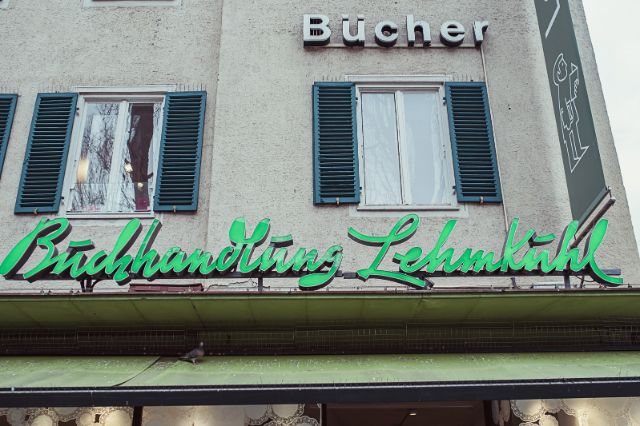 Die Buchhandlung Lehmkuhl in München-Schwabing, Foto: Anette Göttlicher
