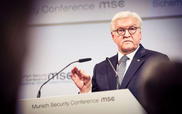 Bundespräsident Frank-Walter Steinmeier bei seiner Rede., Foto: MSC / Kuhlmann