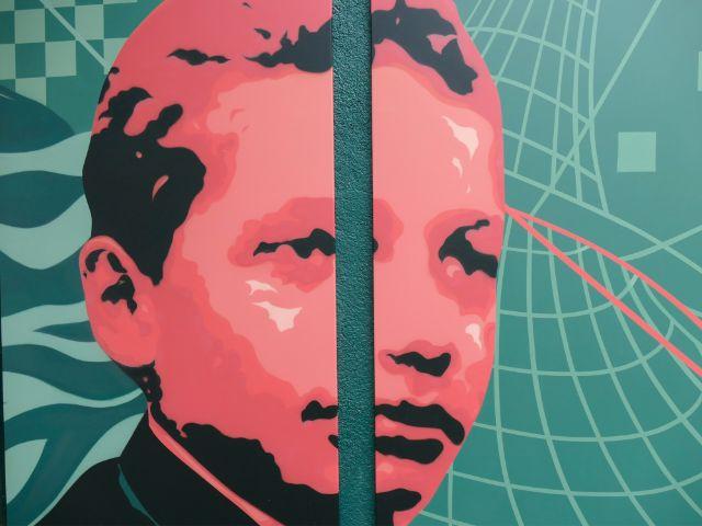 Graffiti von Albert Einstein in jungen Jahren, Foto: Marie-Lyce Plaschka