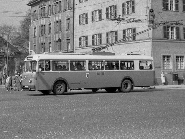 Ein Oberleitungsbus in München im Jahr 1958, Foto: Archiv FMTM