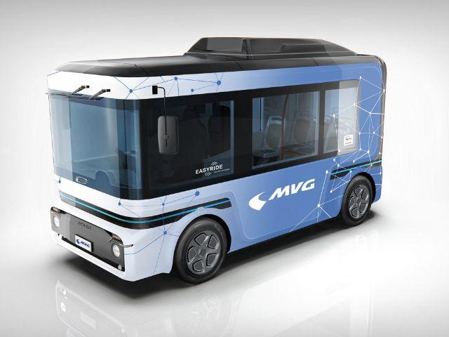 Visualisierung Projekt Easyride: Automatisierter Kleinbus, Foto: SWM/MVG