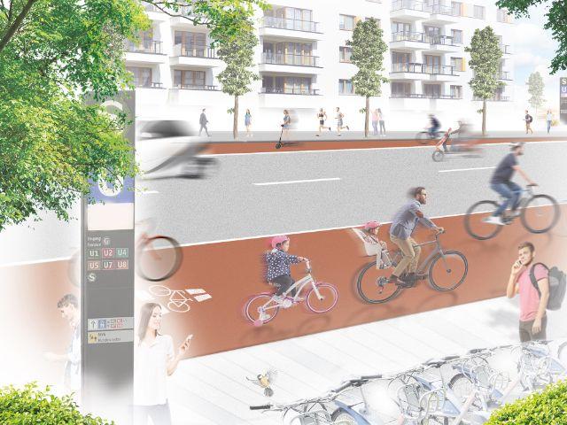 Verbesserung der Radinfrastruktur, Foto: Peter und der Wolf Communications GmbH / LHM