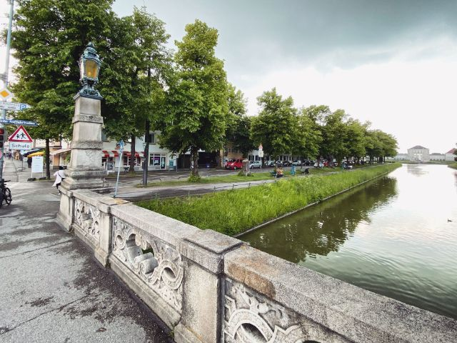 Südliche Auffahrtsallee vor dem Nymphenburger Schloss, Foto: Anette Göttlicher