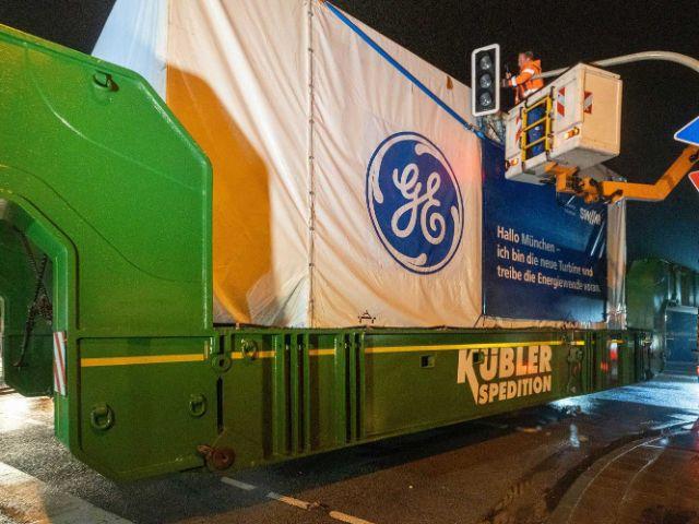 Transport der Turbine , Foto: SWM/patch-st