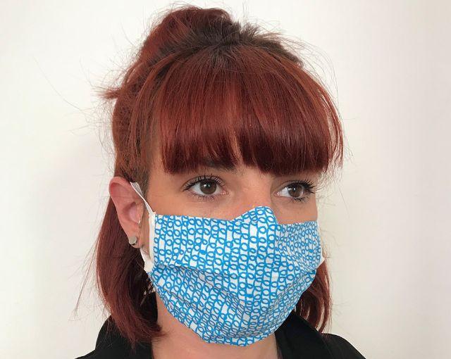 Stoffmaske, Foto: Das Blaue Tuch