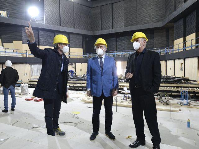 Baustellenbesichtigung der Isarphilharmonie im Mai 2021, Foto: Robert Haas