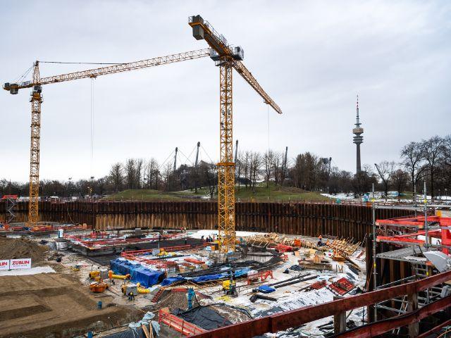Die Baustelle des SAP Garden im Februar 2021., Foto: SAP Garden