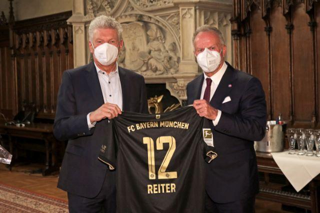 OB Dieter Reiter und Karl-Heinz Rummenigge., Foto: Landeshauptstadt München