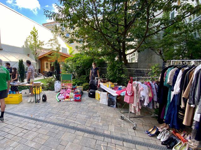 Hofflohmarkt in der Maxvorstadt/im Lehel, Foto: Philipp Hartman
