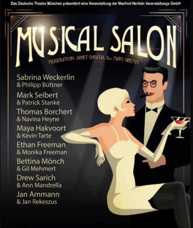 """Plakat für die Reihe """"Musical Salon"""" im Deutschen Theater, Foto: Deutsches Theater"""