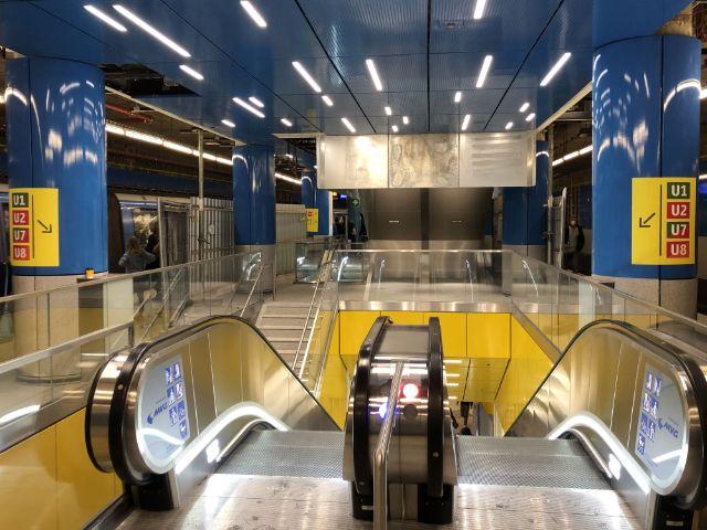 Neue Treppenanlage im U-Bahnhof Sendlinger Tor, Foto: SWM