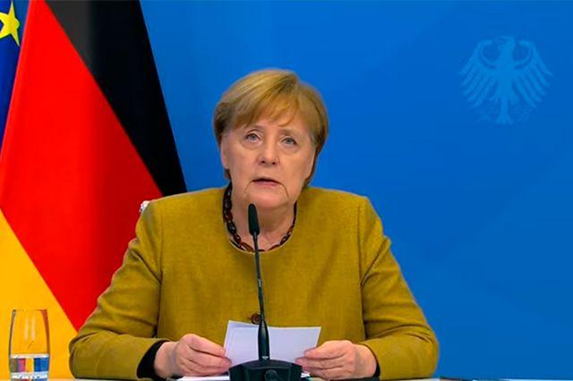 Bundeskanzlerin Angela Merkel bei ihrer Rede zum MSC, Foto: Screenshot Youtube/Munich Security Conference